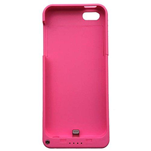 iPhone5S / iPhone5 対応 ケース一体型バッテリー バッテリーケース 大容量2200mAh daiyo (ピンク)