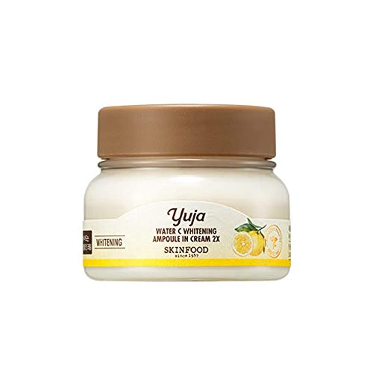 午後物質前兆Skinfood Yuja Water Cホワイトニングアンプル2X / Yaja Water C Whitening Ampoule In Cream 2X 70ml [並行輸入品]