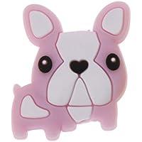 Dabixx 1ピース シリコーンビーズ シリコーン子犬のビーズ ベビー玩具Diy Pacifierチェーンアクセサリー - ピンク
