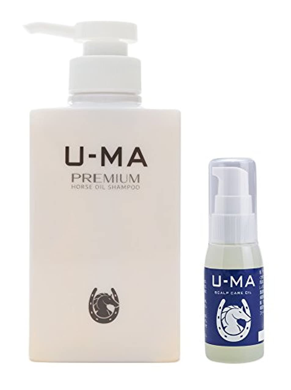 食べる圧縮する座標U-MA (ウーマ) スキャルプケアオイル 30ml & ウーマシャンプープレミアム 300ml セット