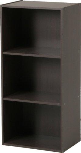 不二貿易 カラーボックス 3段 幅42cm ブラウン 93502