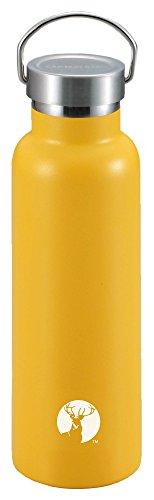 キャプテンスタッグ(CAPTAIN STAG) スポーツボトル 水筒 直飲み ダブルステンレスボトル 真空断熱 HDボトル 600ml イエロー UE-3369