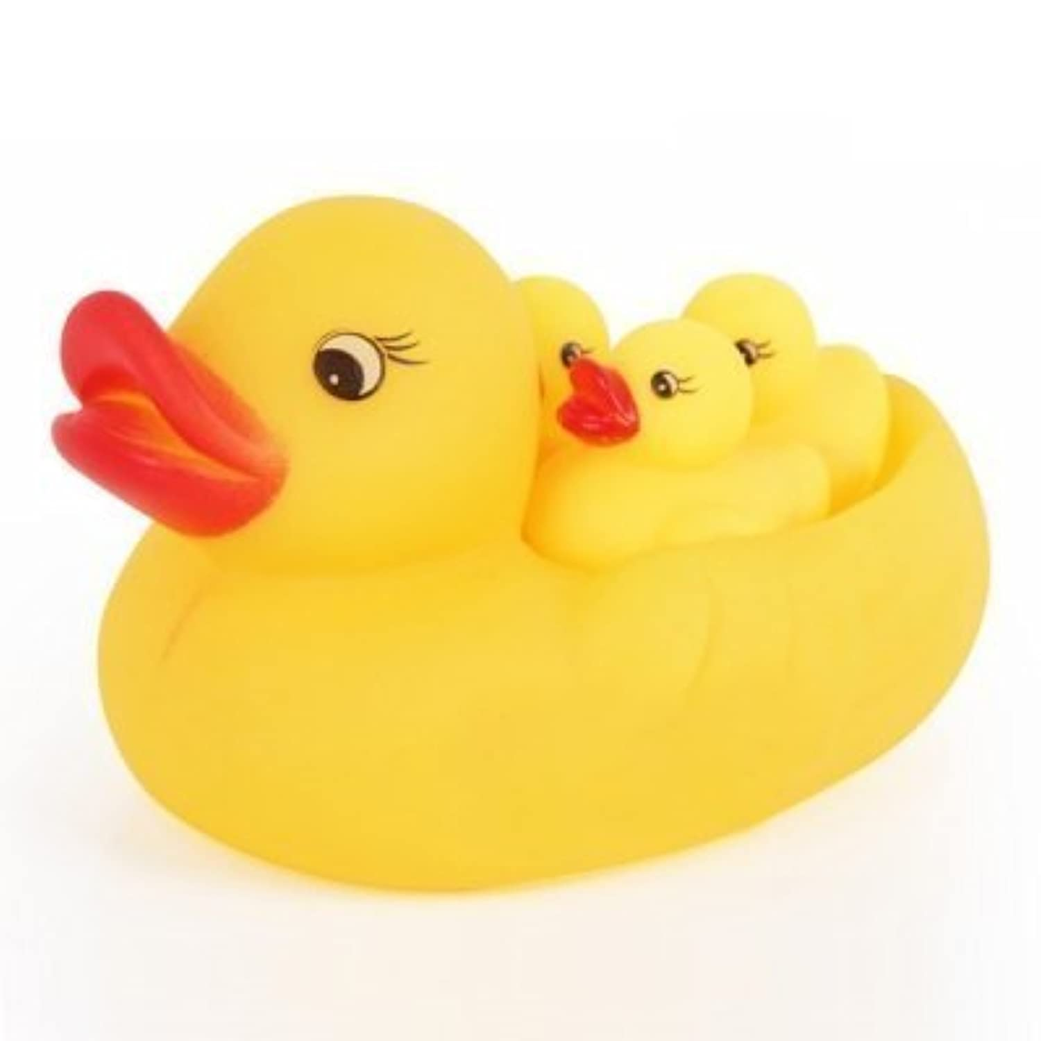 Mummy And Baby Rubber Race Cute Ducks Family Squeaky Bath Toys For Kids Set Ducks by BST [並行輸入品]