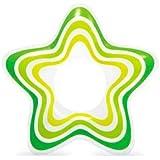 浮き輪 子供用 浮輪 直径74cm 可愛い 星型 スター 海水浴 プール 海 フロート (green)