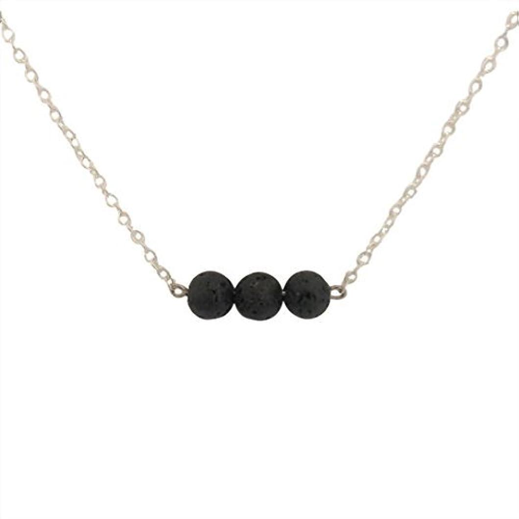 タイプライター卒業記念アルバムブリリアントTrio of Lava Beads Bar Aromatherapy Necklace Essential Oil Diffuser Lava Stone Pendant Jewelry [並行輸入品]