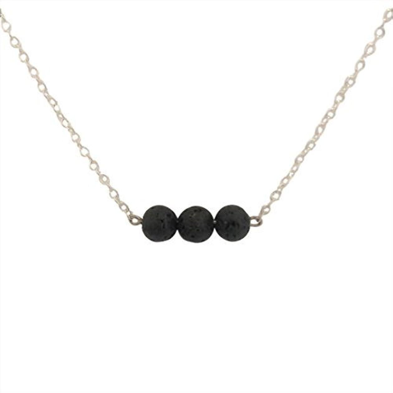 びっくりしたメディカルテープTrio of Lava Beads Bar Aromatherapy Necklace Essential Oil Diffuser Lava Stone Pendant Jewelry [並行輸入品]