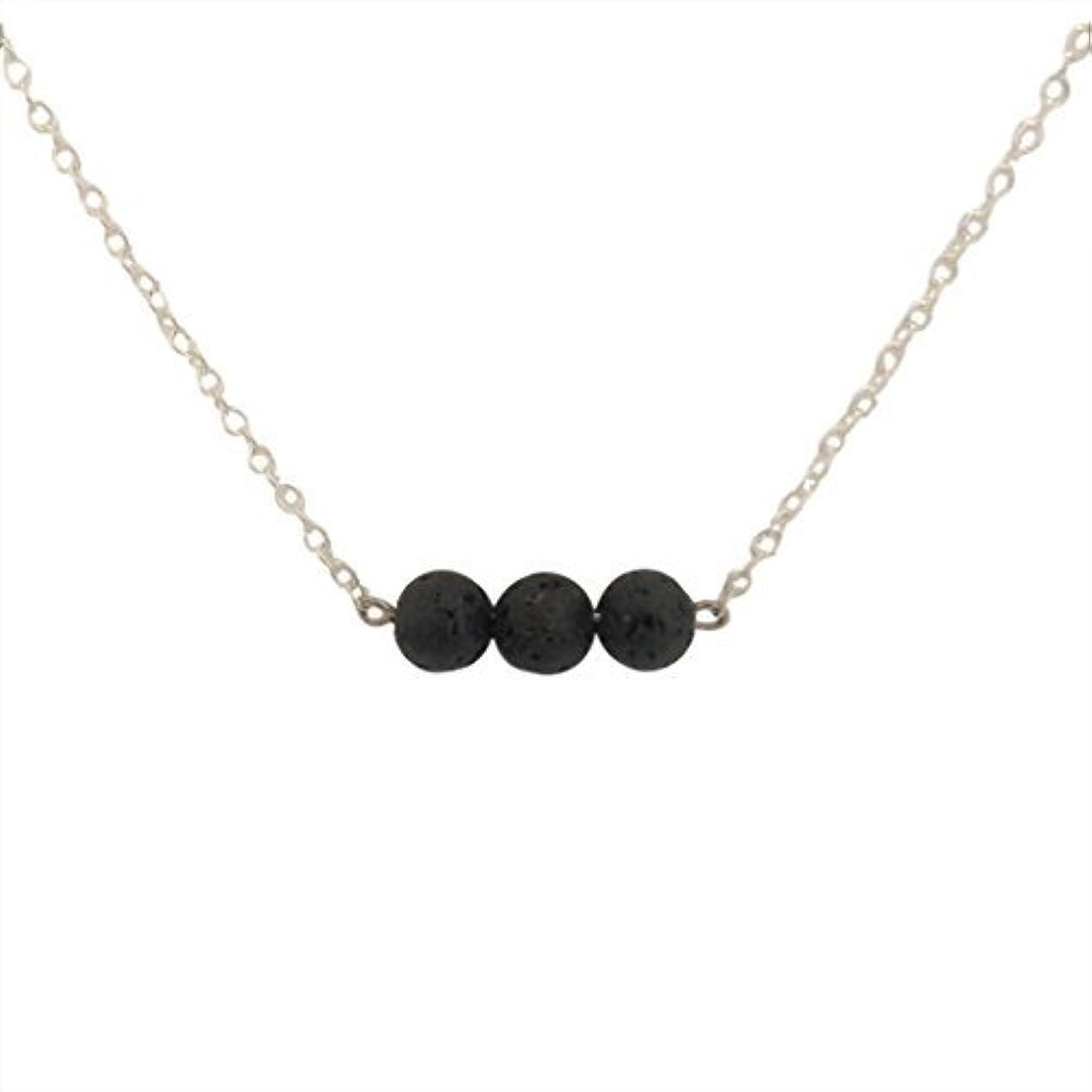 修正精神医学願うTrio of Lava Beads Bar Aromatherapy Necklace Essential Oil Diffuser Lava Stone Pendant Jewelry [並行輸入品]