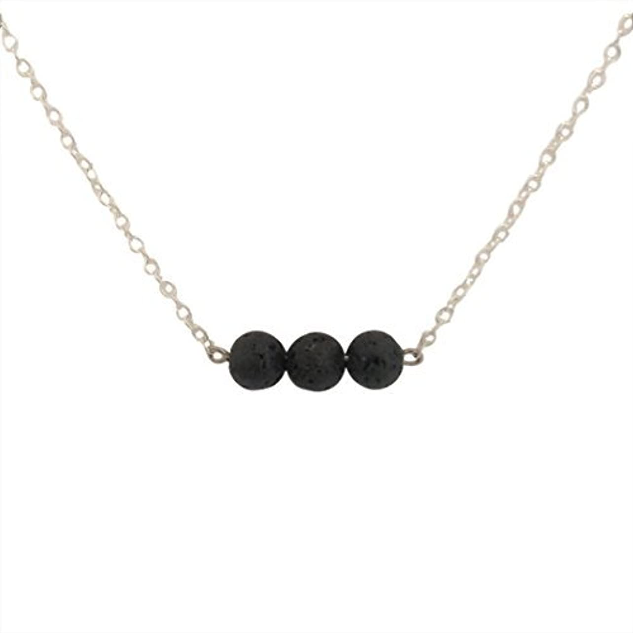 選出する方法Trio of Lava Beads Bar Aromatherapy Necklace Essential Oil Diffuser Lava Stone Pendant Jewelry [並行輸入品]