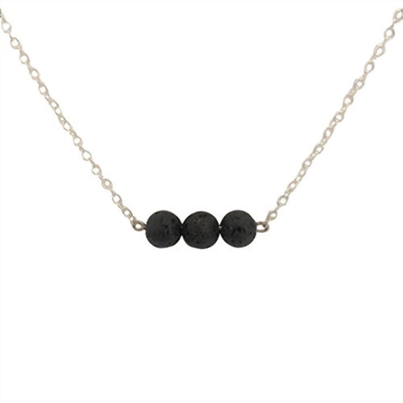 レイ田舎振り向くTrio of Lava Beads Bar Aromatherapy Necklace Essential Oil Diffuser Lava Stone Pendant Jewelry [並行輸入品]