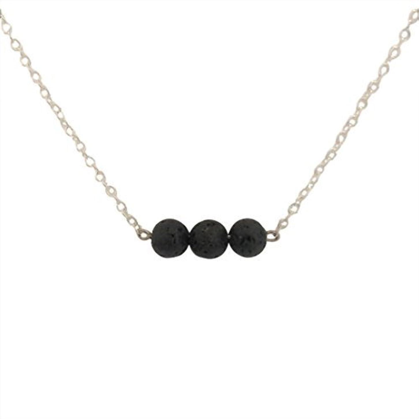 ハッピーギャラリーリストTrio of Lava Beads Bar Aromatherapy Necklace Essential Oil Diffuser Lava Stone Pendant Jewelry [並行輸入品]