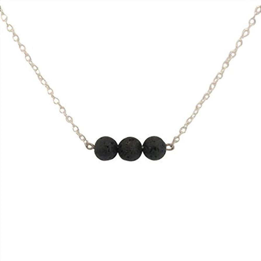 エッセイゴミ箱を空にする実証するTrio of Lava Beads Bar Aromatherapy Necklace Essential Oil Diffuser Lava Stone Pendant Jewelry [並行輸入品]