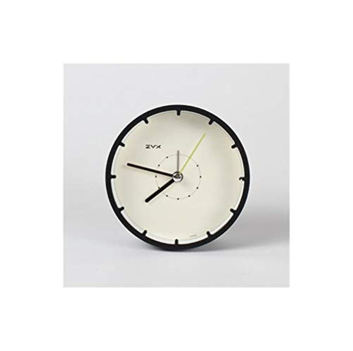 限界いつ解明するQiyuezhuangshi001 目覚まし時計、ベッドサイドの時計サイレントシンプルな、パーソナライズされた学生の電子時計、オレンジ3インチで装飾素敵な小さなベッドルーム、 材料の安全性 (Color : Black)