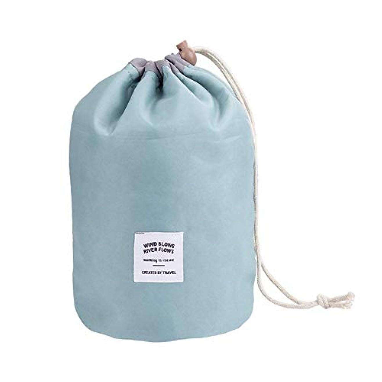淡いステレオタイプアクセント化粧オーガナイザーバッグ ポータブル防水旅行コスメティックバッグトラベルセットストレージバッグバスルームストレージ巾着化粧品バッグポータブル 化粧品ケース (色 : 緑)
