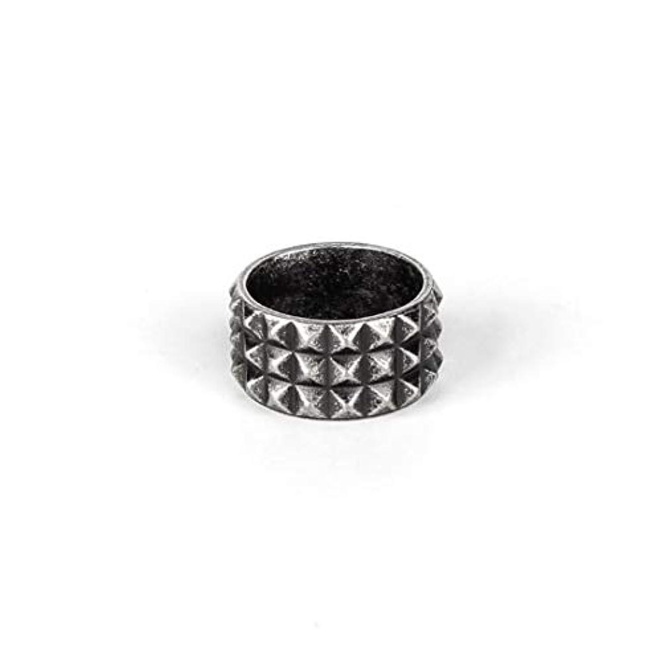 熟読届ける危機男性と女性の銅指輪、レトロスクエアコーナーチタン鋼リング、シンプルな幾何学的なカップル人格リングギフト (Design : 6#)