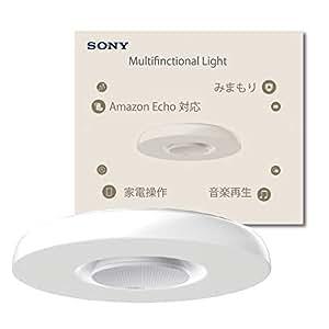 SONY スピーカー 搭載 Alexa 対応 シーリング ライト セット (~12畳) 音楽再生、テレビとエアコンの赤外線 家電コントロール、温湿度・明るさ・人感センサーによるモニタリングとみまもり 【Works with Alexa認定製品】