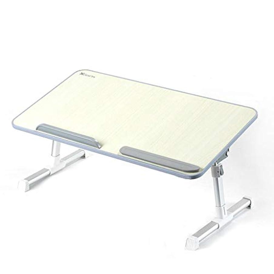 不利益年金受給者アンビエントNJ 折りたたみ式テーブル- 学生多機能折りたたみテーブル、家庭用寮コンピュータデスク机のテーブル (色 : Gray, サイズ さいず : 52x30x32cm)