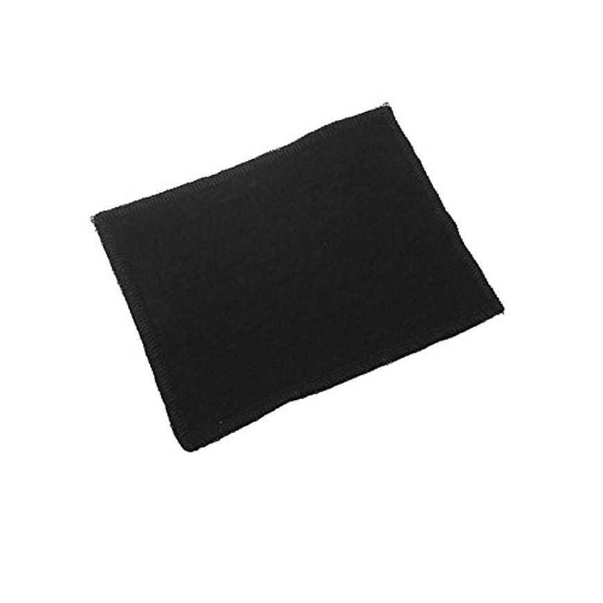 花火非アクティブ爆弾Rose Blanc(ロサブラン) 接触冷感 フェイスマスク用 当て布 (M/L共通対応) 同色での2枚セット (BLACK(ブラック))
