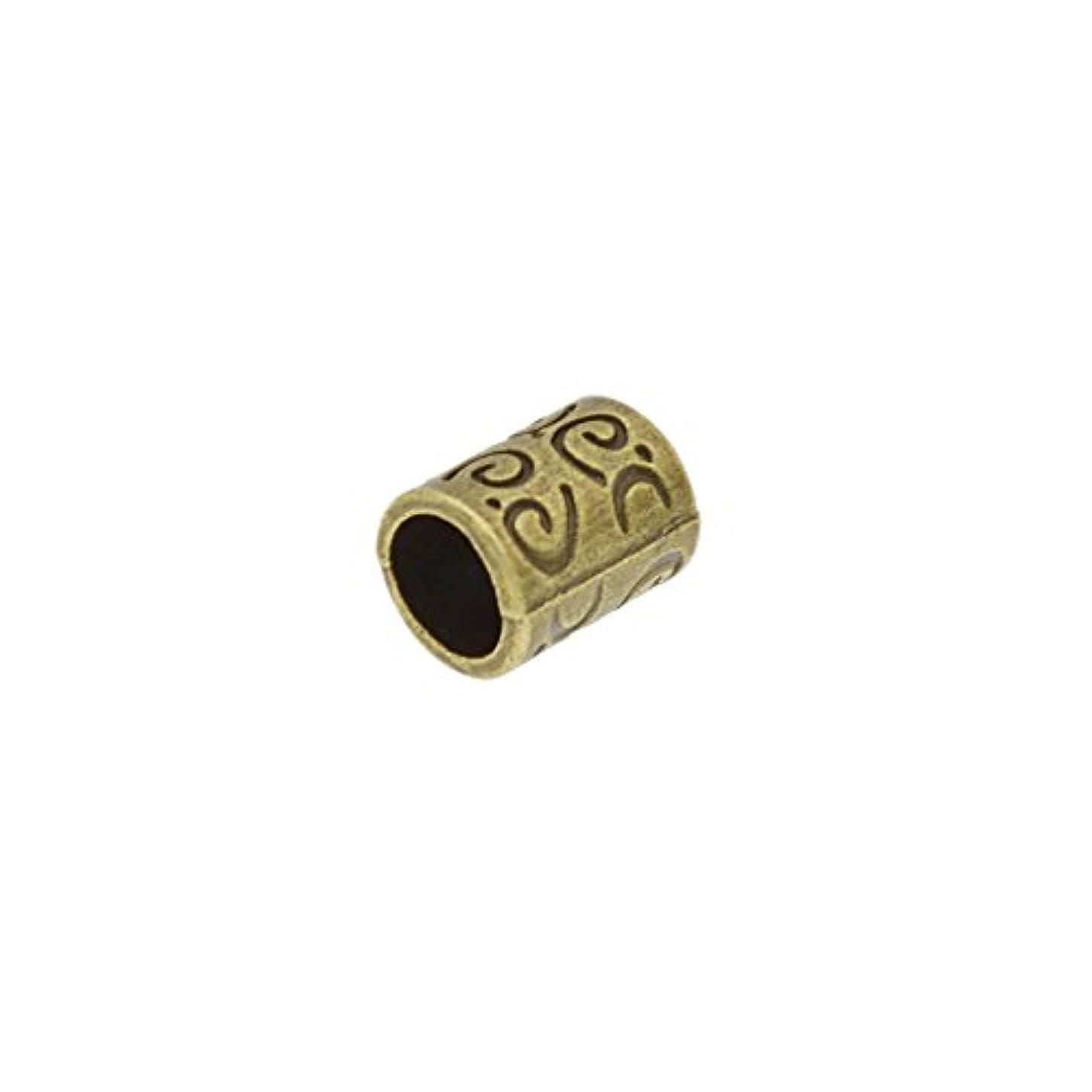 前置詞密度ラリーベルモント(ライチ) Lychee 10個セット ドレッドロックス カフ シンプル アンティーク調 髪飾り 三つ編み ラッパー レゲエ ヒップホップ 内径0.58cm 長さ1cm