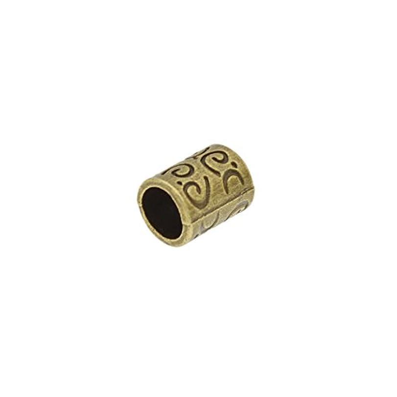 動脈み勇気(ライチ) Lychee 10個セット ドレッドロックス カフ シンプル アンティーク調 髪飾り 三つ編み ラッパー レゲエ ヒップホップ 内径0.58cm 長さ1cm