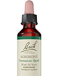 海外直送品 Bach Flower Essences Flower Essence Agrimony, 20 ML