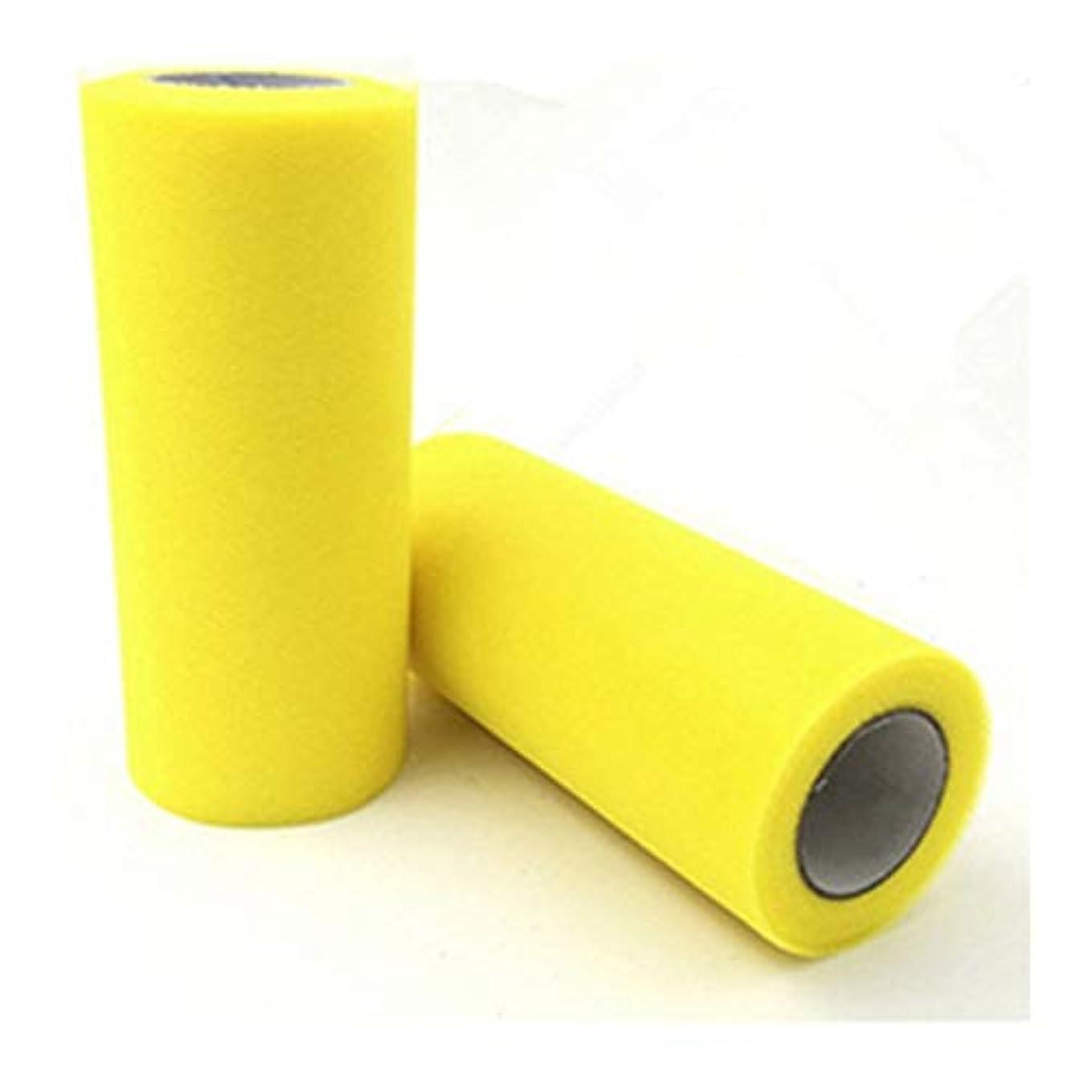 キロメートルメジャーそうでなければMIYU チュールロールオーガンザファブリックスプールチュチュ誕生日ギフトウェディングパーティーの装飾マリアージュサプライ子供の好意 (Color : Yellow)