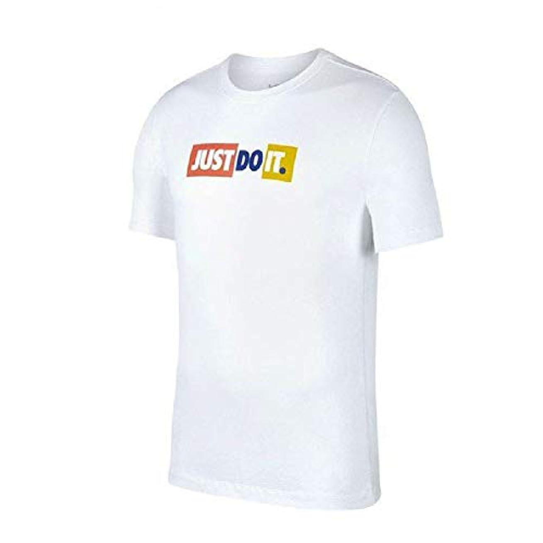 わがまま千解任NIKE(ナイキ) メンズ JDI バンパー TEE シャツ ロゴ プリント JUST DO IT ホワイト 半袖 Tシャツ ck2306-a-XL-100