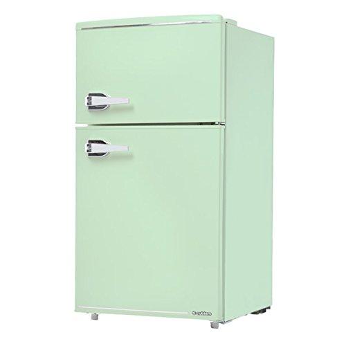 WRD-2090G エスキュービズム 2ドア レトロ冷蔵庫85L ライトグリーン