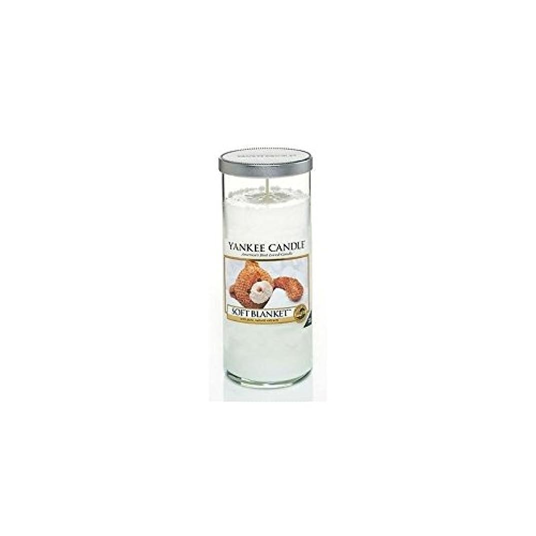 モックハッピーシリアルYankee Candles Large Pillar Candle - Soft Blanket (Pack of 2) - ヤンキーキャンドル大きな柱キャンドル - ソフト毛布 (x2) [並行輸入品]