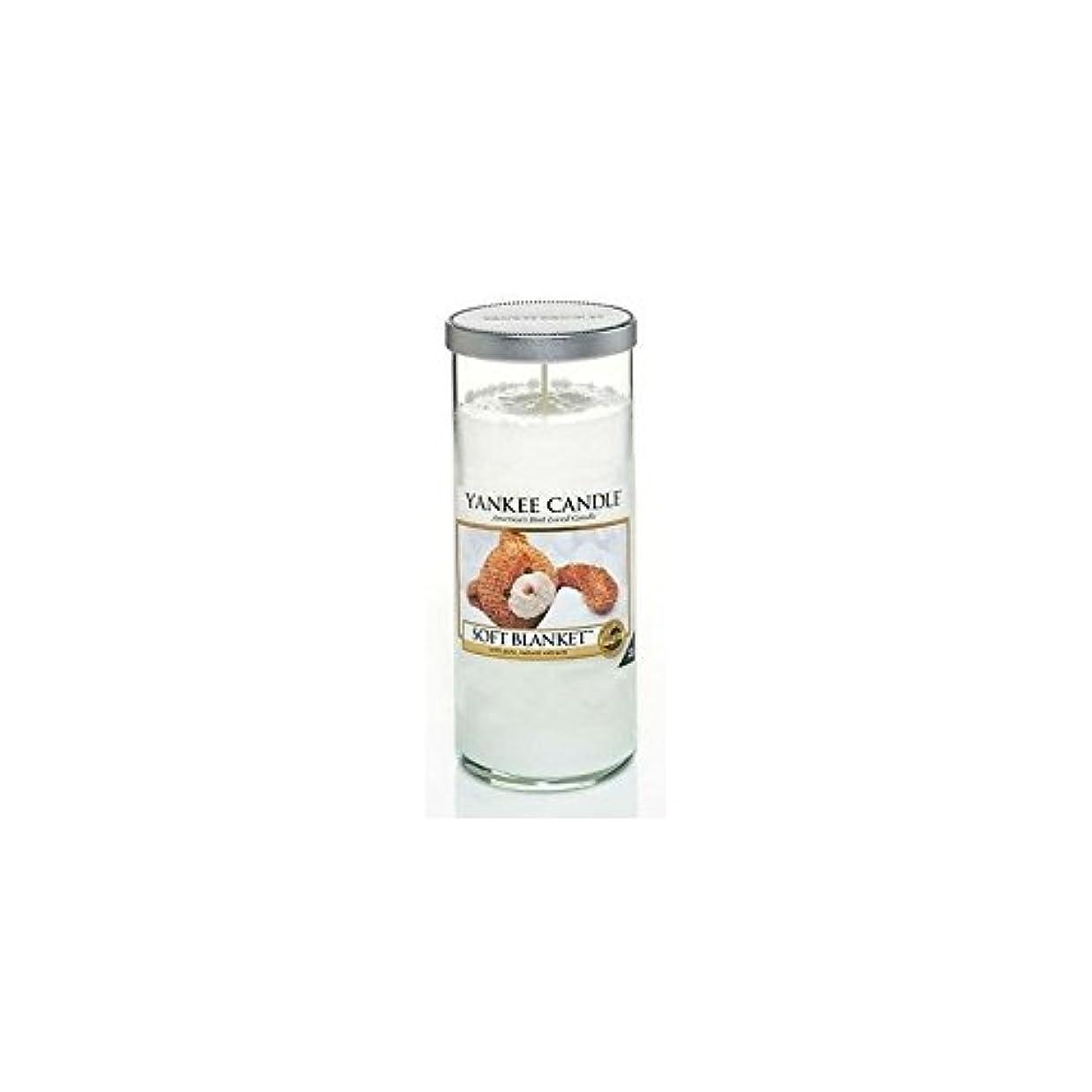赤国民震えYankee Candles Large Pillar Candle - Soft Blanket (Pack of 2) - ヤンキーキャンドル大きな柱キャンドル - ソフト毛布 (x2) [並行輸入品]