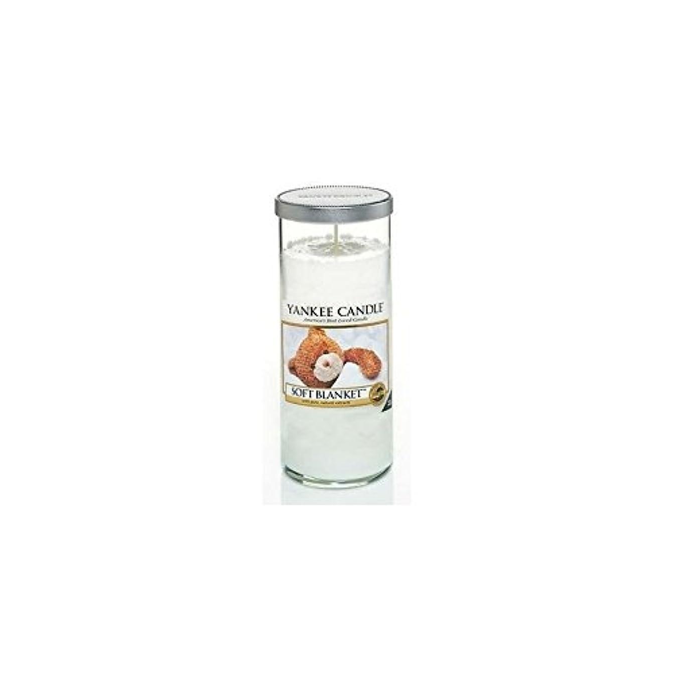 公使館充電Yankee Candles Large Pillar Candle - Soft Blanket (Pack of 6) - ヤンキーキャンドル大きな柱キャンドル - ソフト毛布 (x6) [並行輸入品]
