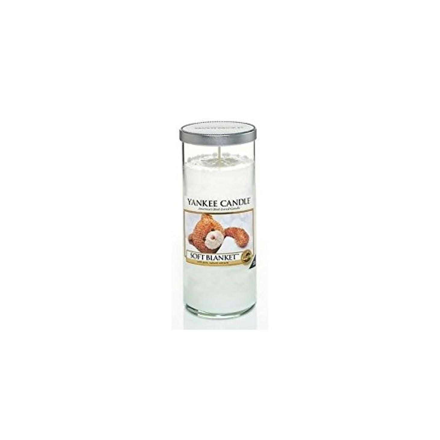 扇動するスカープ飲食店Yankee Candles Large Pillar Candle - Soft Blanket (Pack of 6) - ヤンキーキャンドル大きな柱キャンドル - ソフト毛布 (x6) [並行輸入品]