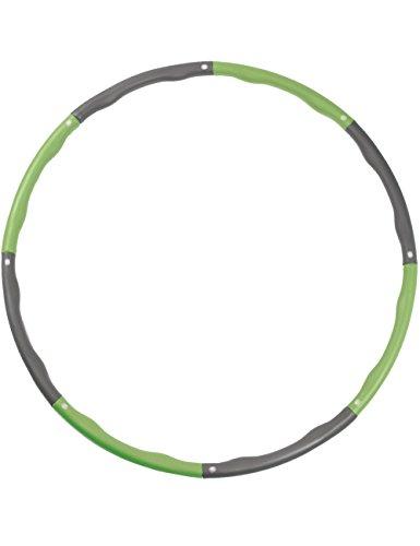 LICLI ダイエット フラフープ 「 組み立て式 サイズ調整可 大人用 子供用 サイズフリー 」「 ウエスト くびれ 引き締め 有酸素運動 脂肪燃焼 」「 折りたたみ フープ 持ち運び簡単 」「 回しやすい やわらかい 素材 」 4カラー (グリーン)