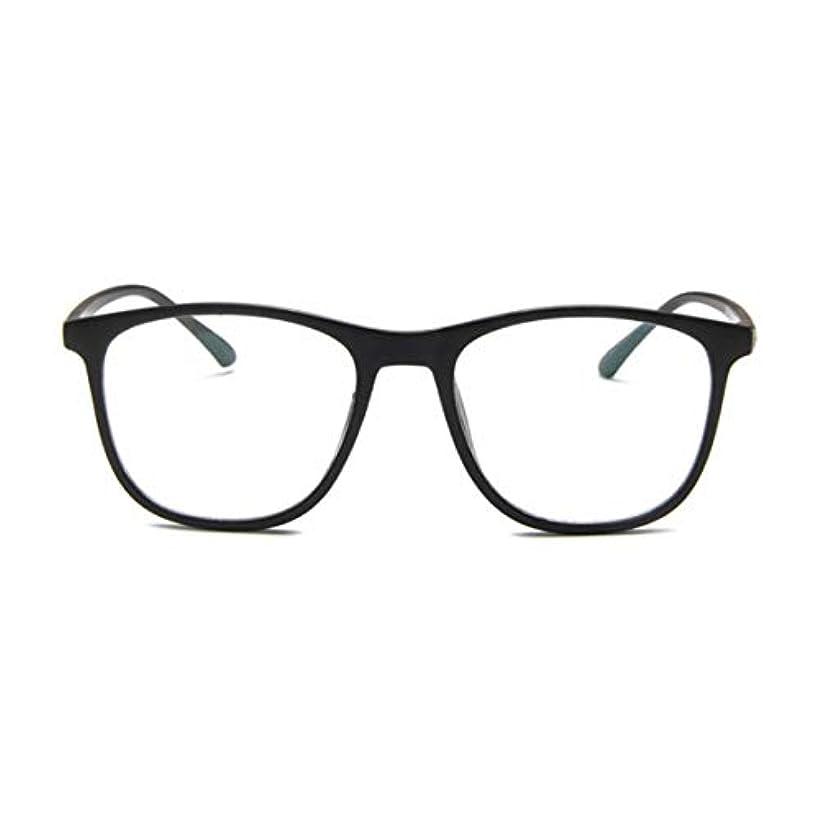 リダクター延期する非難する韓国の学生のプレーンメガネの男性と女性のファッションメガネフレーム近視メガネフレームファッショナブルなシンプルなメガネ-マットブラック