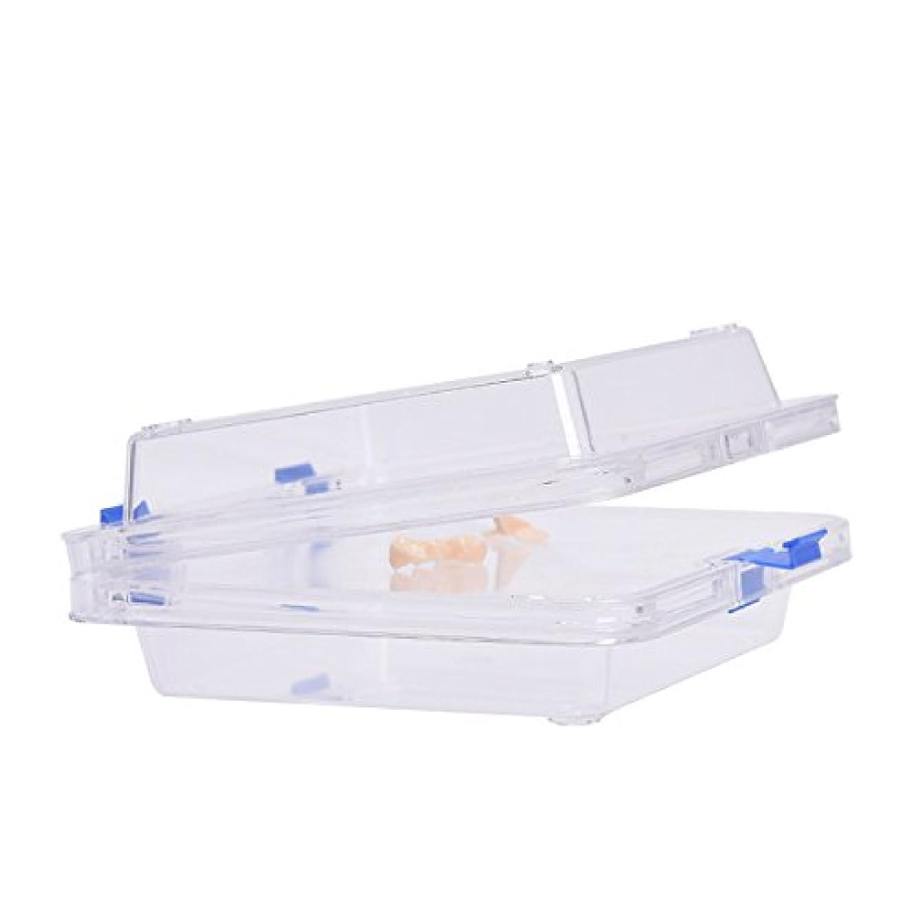 学校教育メモワードローブ入れ歯入れケース防振膜付き サイズ:9.5 * 9.5 * 5cm  義歯ケース Annhua
