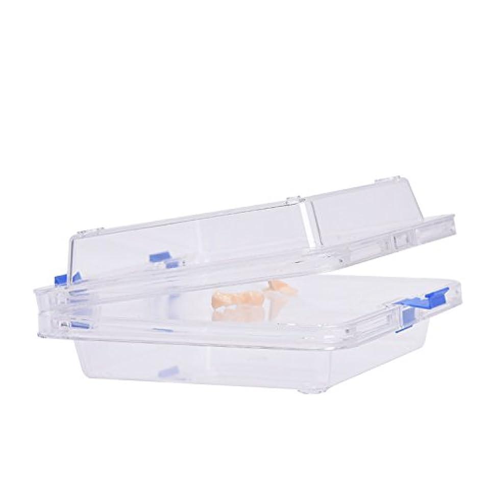 はさみ調停する野な入れ歯入れケース防振膜付き サイズ:9.5 * 9.5 * 5cm  義歯ケース Annhua