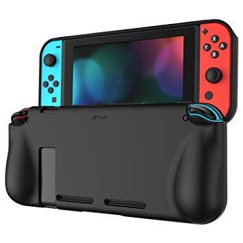 JEDirect 全面保護ケース カバー 衝撃吸収 擦り傷防止 ソフトケース Nintendo Switch専用 (ブラック)