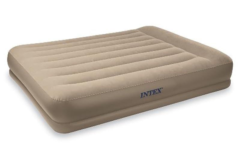 道徳放課後アクティビティIntex Pillow Rest Mid-Rise Airbed with Built-in Pillow and Electric Pump, Twin, Bed Height 13 3/4 by Intex