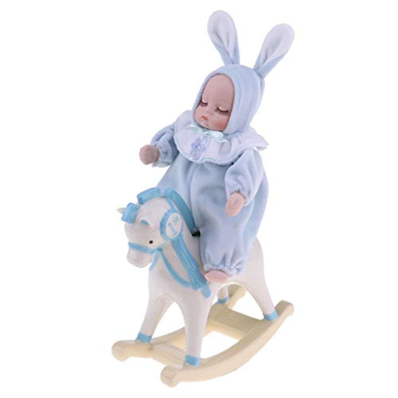 Perfeclan 磁器人形 ベビードール オルゴール ぬいぐるみ 赤ちゃん人形 耐久性 全2色 睡眠玩具 - ブルー