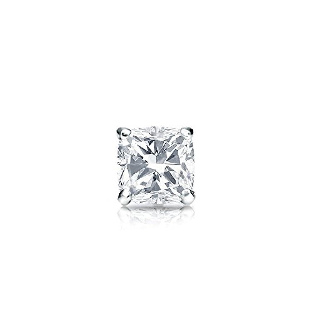 動物園鑑定ベッド14 Kゴールド4プロングMartiniクッションダイヤモンドシングルスタッドイヤリング( 1 / 4 – 1 CT、ホワイト、si2 ) securelockbackdisc