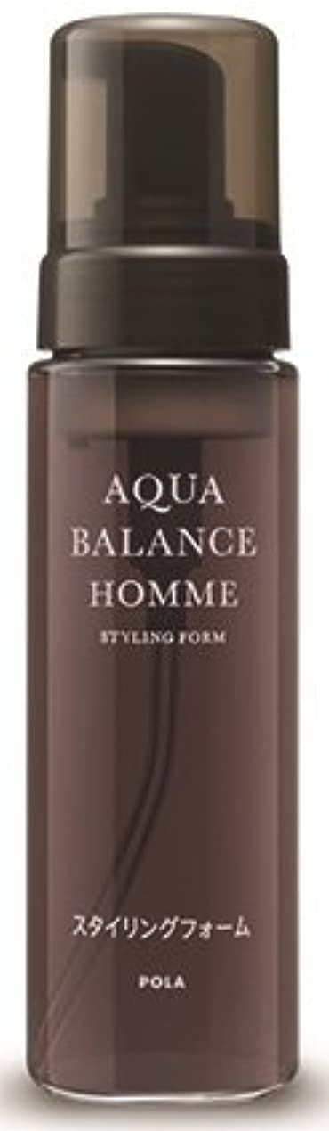 不潔健全美人AQUA POLA アクアバランス オム(AQUA BALANCE HOMME) スタイリングフォーム ムース 整髪料 1L 業務用サイズ 詰替え 200mlボトルx1本