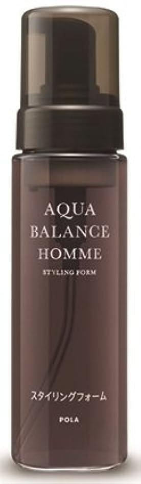 慢な出発する性能AQUA POLA アクアバランス オム(AQUA BALANCE HOMME) スタイリングフォーム ムース 整髪料 1L 業務用サイズ 詰替え 200mlボトルx1本