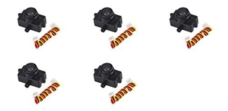 5 x Quantity of Walkera Rodeo 150 150-Z-21(B) Mini Camera 600TVL Black FPV Video [並行輸入品]