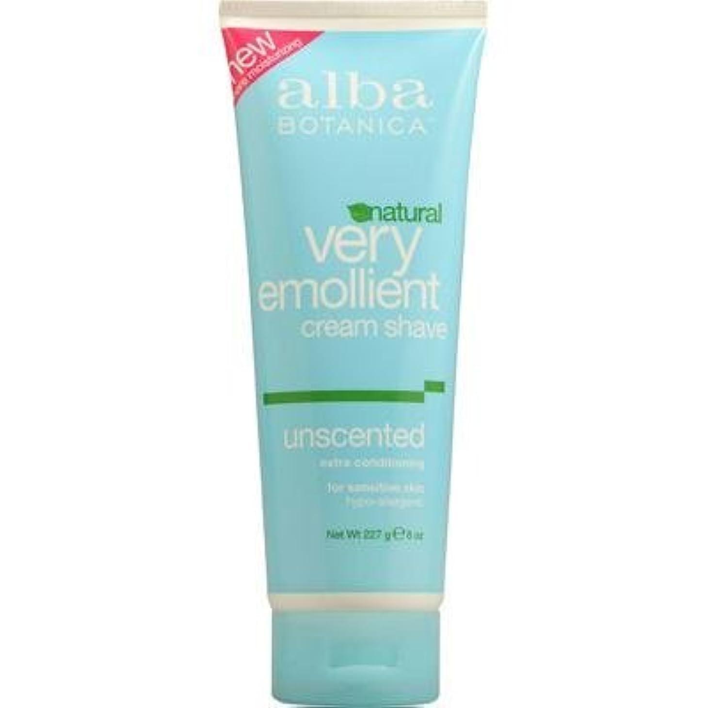 行政メドレー家主Alba Botanica: Very Emollient Cream Shave Unscented 8 oz (3 pack) [並行輸入品]