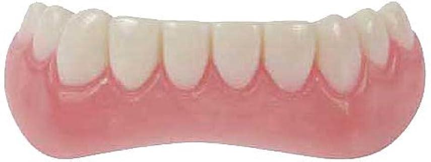 痛み少しリズミカルなインスタント 美容 入れ歯 下歯 日本語簡易説明書付 (Free Size) (Free Size)
