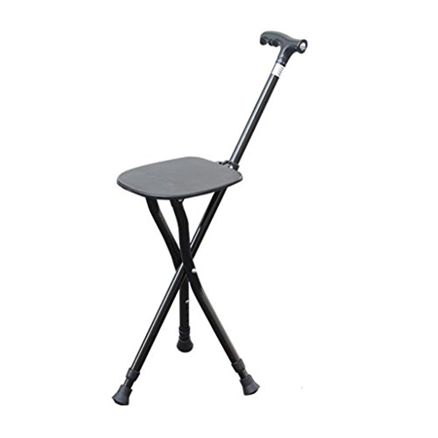 敬礼ひどくフォーマット杖調節可能な折りたたみ式歩行椅子スツールマッサージシート付き歩行スティックポータブル釣りレッグスツールノーエル