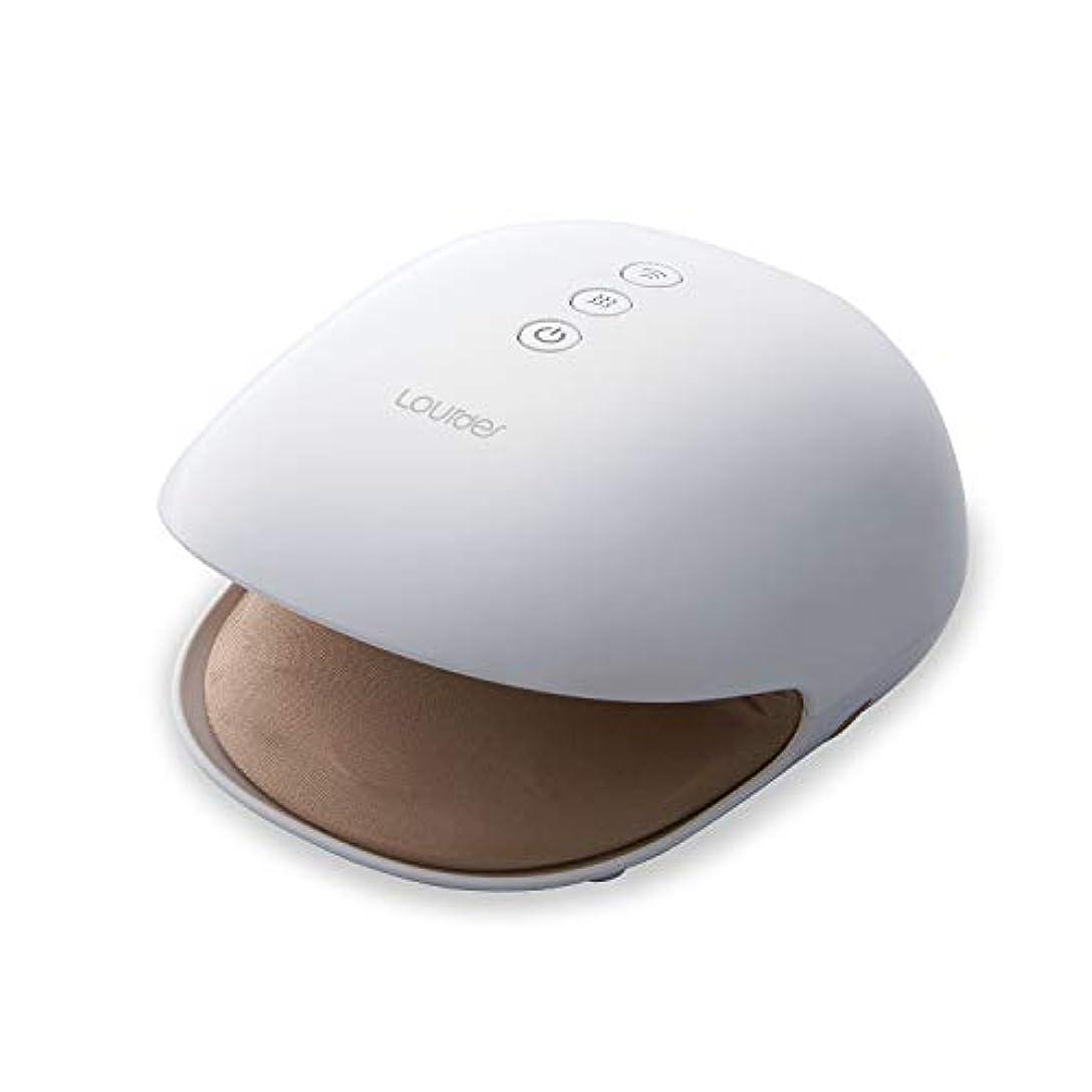 LOWYA(ロウヤ)ハンドマッサージ器 ハンドマッサージャー ヒーター付き コンパクト ハンドケア デコれるフェイスシール付き ホワイト