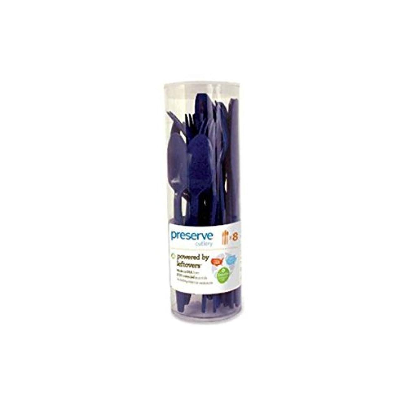 自転車オープニング可能にするPreserve Cutlery (8 Set) - Midnight Blue 24 Pack(S) by Preserve