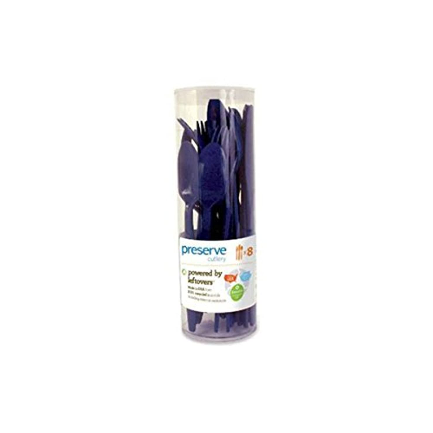 蓮公式中古Preserve Cutlery (8 Set) - Midnight Blue 24 Pack(S) by Preserve