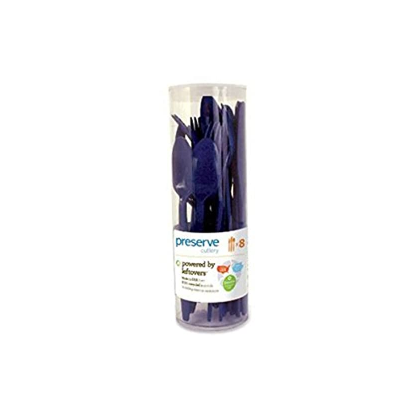 インストール見捨てられたチューインガムPreserve Cutlery (8 Set) - Midnight Blue 24 Pack(S) by Preserve