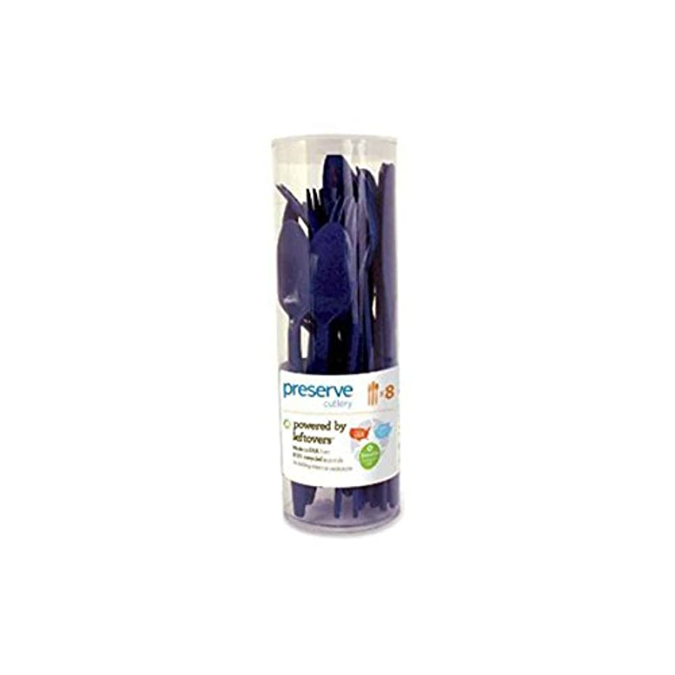 メロディーアラビア語一晩Preserve Cutlery (8 Set) - Midnight Blue 24 Pack(S) by Preserve